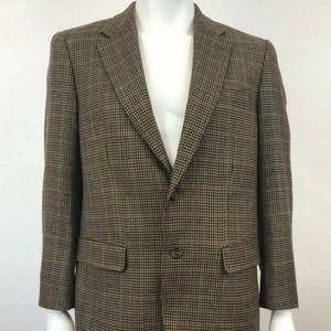 Lauren Ralph Lauren Tweed Brown Sports Blazer 40R